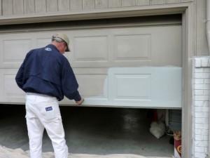 Painting a Garage Door