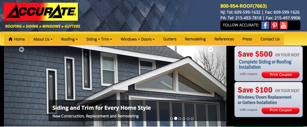 Accurate Roofing & Siding Inc.