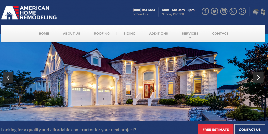 Top 50 window and siding contractors in central and north for American remodeling