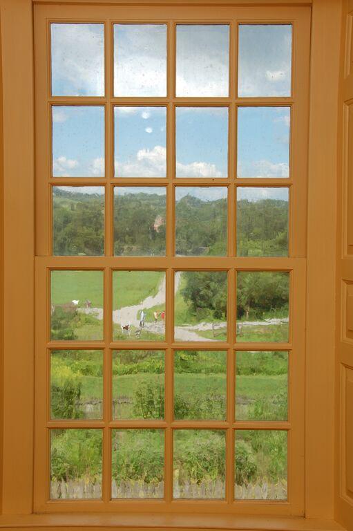 antique orange window alexandria