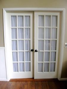 Glass on  door