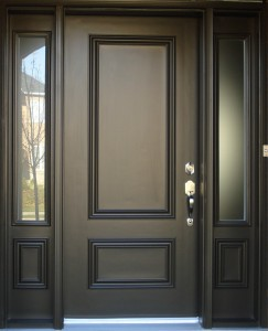 how do you paint a fiberglass entry door
