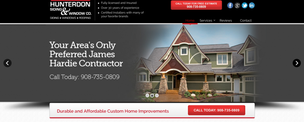 window and siding contractor hunterdon county nj