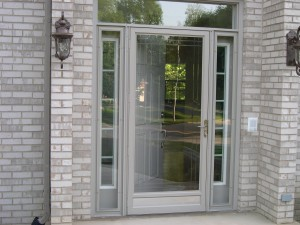What Type of Entry Door Can Be Used With a Storm Door? Storm Doors Gray on