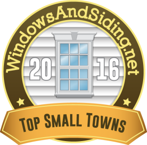 WindowsAndSiding.net - Top Small Towns 2016